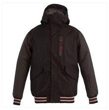 2016 NWT MENS BILLABONG VARSITY SNOWBOARD JACKET $220 L black heavy twill fabric