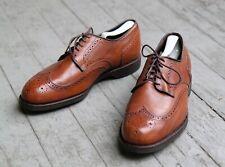 Allen Edmonds LGA Wingtip Derby Road Warrior 3351 Walnut Shoes Men's 10 EEE Ex+