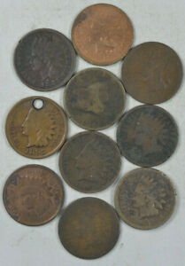 50 Cull Flying Eagle and Indian Head Cents 1858 - 1899 see description for dates