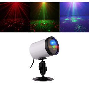 IP65 Outdoor 20 RG Gobos Laser Blue LED Light Timing Garden Landscape Projector