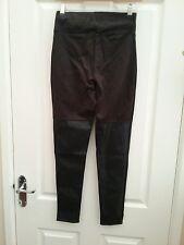 Lipsy Michelle Keegan Black Biker Leggings Size 6 BNWT