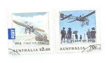 Australia-prima SERIE POSTA AEREA bene usato CTO 100th ANNIV presto Aviazione Volo - 2014