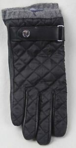 POLO RALPH LAUREN BLACK LEATHER WATER REPELLENT THINSULATE GLOVES NWT