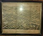 1874 Map ~ Bird's Eye View PLAINFIELD NJ ~ incl North and South Plfd. New Jersey