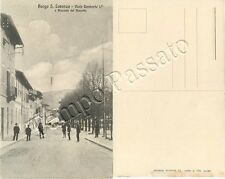 Cartolina di Borgo San Lorenzo, viale Umberto I - Firenze