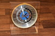 vintage Sextant World Time desk mantle table top office Clock WORKS WORKING old