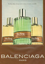Publicité Advertising 1981  Parfum Ho Hang de BALENCIAGA   Paris