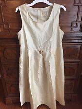 Dress Target Yellow Golden Ivory XL Girls A Line Textured Flower Embellished