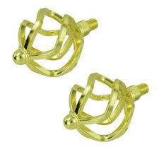 """Bicycle Twisted Round Caged 1/2"""" Pedals Cruiser Lowrider Bikes Gold"""