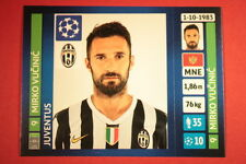 PANINI CHAMPIONS LEAGUE 2013/14 N. 108 VUCINIC JUVENTUS BLACK BACK MINT!