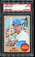 1968 Topps Baseball #580 BOB BAILEY Los Angeles Dodgers PSA 9 MINT