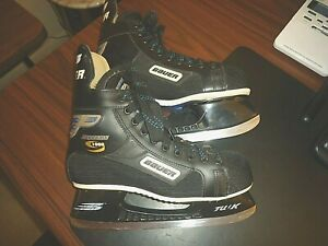 Bauer Supreme 1000 Adult Hockey Skates, Vintage, TUK Blades, Black, 8 B, Canada.