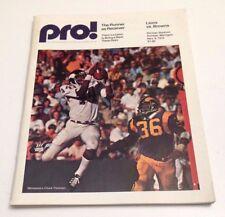 1975 Pro Football Program Lions vs Browns Chuck Foreman