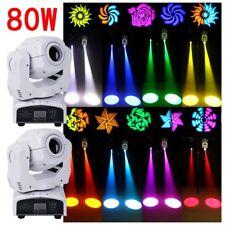 2PC 80W Moving Head Stage Gobo Light RGBW LED DMX Spot Club DJ Party Lighting