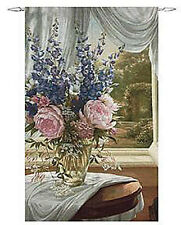 Country Estate Floral Vase Grande Tapestry Wall Hanging