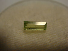 Peridot Baguette Cut Gemstone 6 mm x 2.5 mm 0.25 Carat Natural Gem