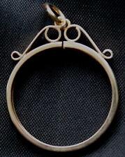 9ct gold fully hallmarked FULL SOVEREIGN pendant mount