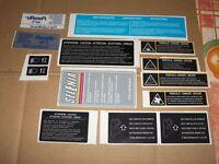 Lancia delta hf integrale 16 valvole evo 1-2 thema adesivi stickers vano motore.