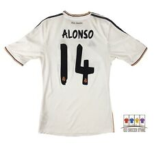 Real Madrid 2013/14 Home Soccer Jersey Small Xabi Alonso Adidas