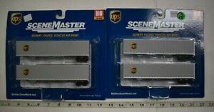 Lot 9-235 * HO Scale Walthers Scenemaster 2 x 949-2256 48' Stoughton Trlrs. UPS