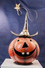 "7.5"" Lighted Jack O Lantern Metal Halloween/Thanksgiving Pumpkin Decorations"