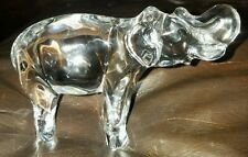 "Baccarat Crystal Signed Elephant Standing 5"" long"