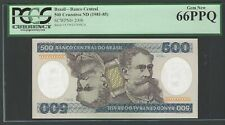 Brazil 500 Cruzeiros Nd (1981-85) P200b Uncirculated Grade 66