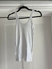 Theory Womens White 100% Cotton Vest Top Size S