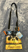 Punta Cana Women's Cross body Canvas Bag Yellow,black And Blue Color