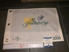 JORDAN SPIETH SIGNED AUTOGRAPHED PRESIDENTS CUP GOLF PIN FLAG BECKETT BAS COA