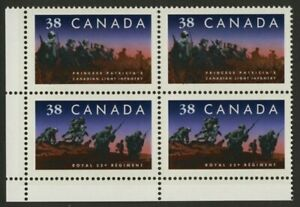 Canada 1250a BL Block MNH Infantry Regiments, Military