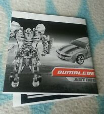 Transformers MOVIE PREMIUM BUMBLEBEE INSTRUCTION BOOKLET ONLY