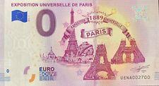 BILLET 0  EURO EXPOSITION UNIVERSELLE DE PARIS  FRANCE  2019 NUMERO 2700