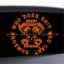 Heavy Equipment Mechanic Vinyl Decal Sticker LRG 11...