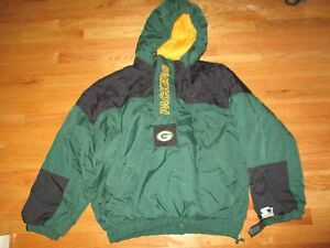 Vintage Starter GREEN BAY PACKERS 1/2 Zippered Winter Heavy (XL) Hooded Jacket