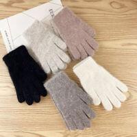 alle finger frauen warme handschuhe wolle gestrickt touch screen katze druck