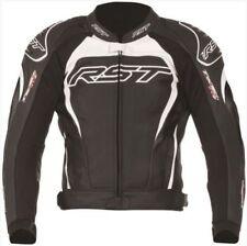 Blousons blancs RST en cuir pour motocyclette