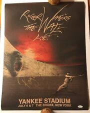 Roger Waters Auto Signed The Wall Live Yankee Stadium JSA #X55613 Poster LE