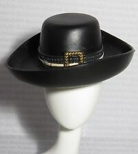 * ACCESSORY HAT ~ BARBIE PIRATES OF THE CARIBBEAN ANGELICA DOLL BLACK RUBBER HAT