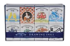 Winsor & Newton Drawing Inks 14ml Set of 8 Colours - The Henry Collection
