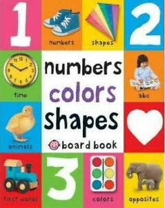 *BRAND NEW* NUMBERS, COLOURS, SHAPES by PRIDDY BOOKS (Board book)