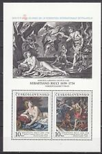 CZECHOSLOVAKIA 1988 **MNH SC#  2716 b Special Sheet - Painting - Bacchus and
