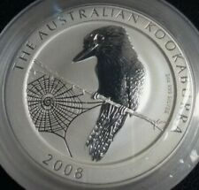 2008 Australia 2 oz Silver Kookaburra × 1 coin
