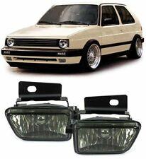 For VW Golf MK2 MK II 2 Smoked Fog Light Set Fogs with brackets foglights
