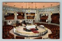 Royal Oak Shrine Of The Little Flower Church Altar Linen Michigan c1937 Postcard