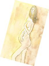 PREGNANT WOMAN WITH BABY - ORIGINAL PAINTING - ONE OF A KIND ARTWORK