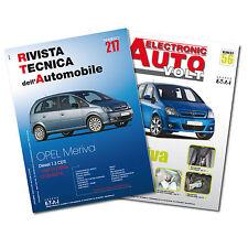 1 Manuale tecnico riparazione/manutenzione + 1 Manuale Diagnosi Auto Opel Meriva
