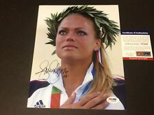 Jennie Finch Olympics Gold Medal Signed Auto 8x10 Psa/Dna