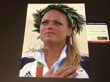 Jennie Finch Olympics Gold Medal Signed Auto 8x10 PSA/DNA COA