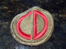 WWII U.S. 85th Infantry Division Patch. Stunning Deep White Back.